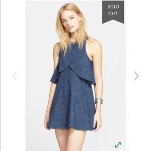 Free People Sapphire Flyaway Mini Dress